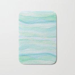 Blue Green Watercolor Layers Bath Mat
