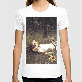 OPHELIA - JOHN WILLIAM WATERHOUSE T-shirt