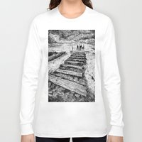 ink Long Sleeve T-shirts featuring Storm - Ink by Nicolas Jolly