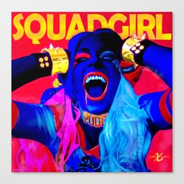 XSuperModels x Cheryl - SquadGirl Canvas Print