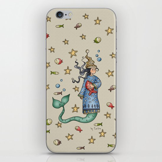 Mermaid {Sleepy} iPhone & iPod Skin