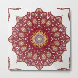 Repeated Mandalas Anew 2 Metal Print