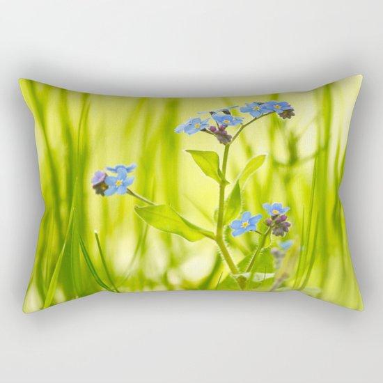 Lovely Morning Meadow Rectangular Pillow