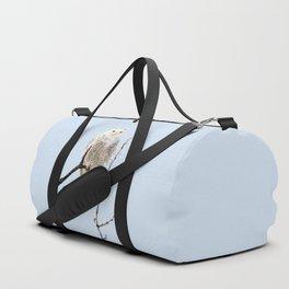 Snowy in the Wind (Snowy Owl) Duffle Bag