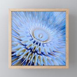 Blue 3D essence of a mandala Framed Mini Art Print