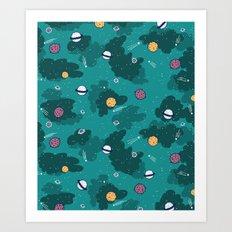 Deep Space Pattern Art Print