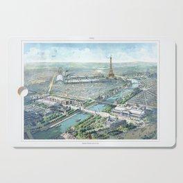 Paris art print Paris Decor office decoration vintage decor eiffel tower of Paris Cutting Board