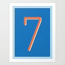 The Lucky Number Seven Art Print