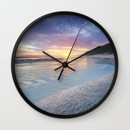Curving into an Eleven Mile Sunset Wall Clock
