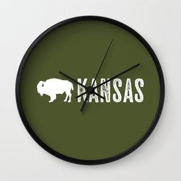 Bison: Kansas Wall Clock