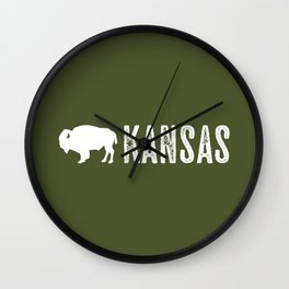 Bison: Kansas Wall Clock