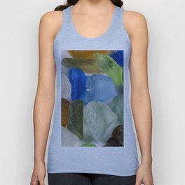 Colorful New England Beach Glass Unisex Tank Top