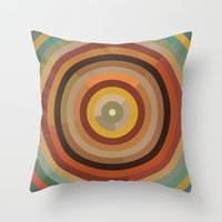 mod Throw Pillows featuring Mod  by Lori Wemple