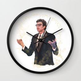 Sparkling Jeff Goldblum Wall Clock
