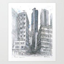 Hong Kong. Burrows street Art Print