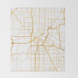 MINNEAPOLIS MINNESOTA CITY STREET MAP ART Throw Blanket
