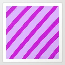Royal Stripes Art Print