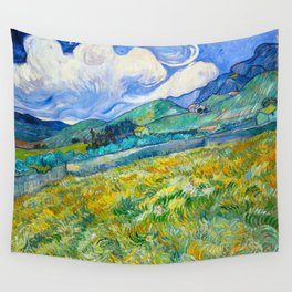 Mountain Landscape behind the Saint Paul Hospital Painting by Vincent van Gogh 1889 Wall Tapestry