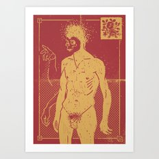 Masked & Untitled Art Print