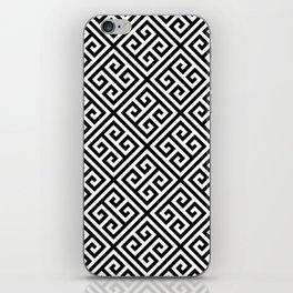 black and white pattern , Greek Key pattern -  Greek fret design iPhone Skin