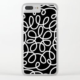 Hand drawn flower doodle circles Clear iPhone Case