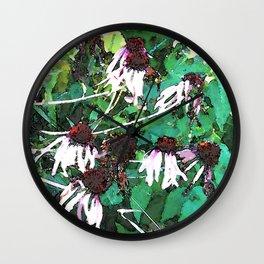 Watercolor Echinacea Wall Clock
