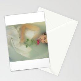 bath rose Stationery Cards