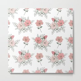 Delicate floral. Metal Print