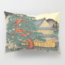 Sekko's Pine Tree at Myoshin-ji Temple by Hasegawa Sadanobu - Japanese Vintage Ukiyo-e Woodblock Pai Pillow Sham