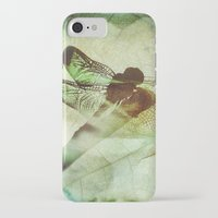 dragonfly iPhone & iPod Cases featuring Dragonfly by SpaceFrogDesigns