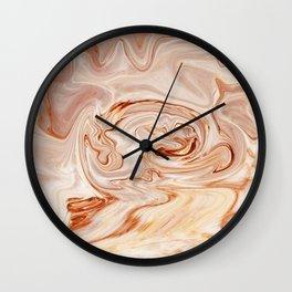 Nude Liquid Marble Wall Clock