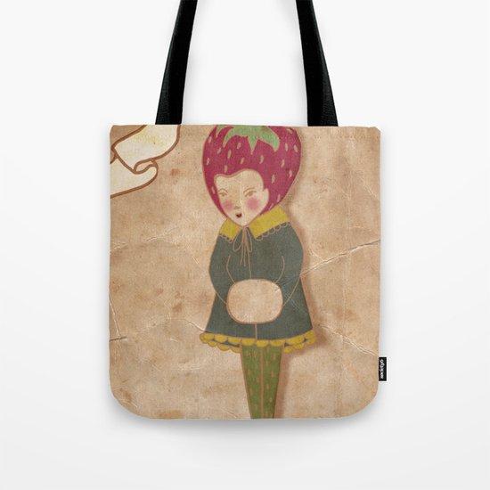 Strawberry head  Tote Bag