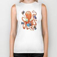 comic book Biker Tanks featuring Comic Book Octopus by Bili Kribbs