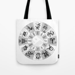 Western Zodiac Circle Tote Bag