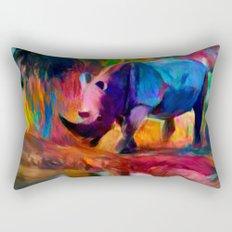 Rhinoceros Rectangular Pillow