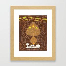 Leo Print Framed Art Print