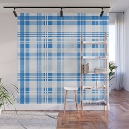 Hanukkah Plaid Wall Mural