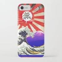 hokusai iPhone & iPod Cases featuring COLLAGE: Hokusai by Diavu'