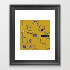 future tense 2 det b Framed Art Print