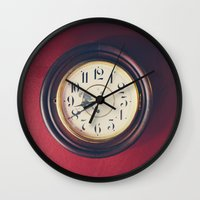 wall clock Wall Clocks featuring Old wall clock by Elisabeth Coelfen