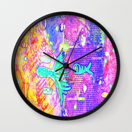 I VII Psychedelia Wall Clock