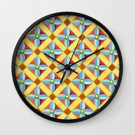 Heraldic Quartrefoil Lozenge Wall Clock