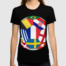 Football ball with various flags - semifinal and final T-shirt