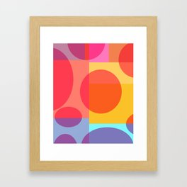 Fun Geometrics Framed Art Print