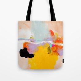 yellow blush abstract Tote Bag