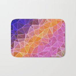 crystalized rainbow Bath Mat
