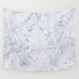 Purple Blue and White Marble Pattern Wall Tapestry
