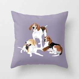 Henry, Gemini and Sawyer Throw Pillow