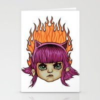 league of legends Stationery Cards featuring League of Legends Annie  by Danonymous84