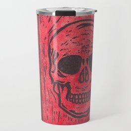 Four Red Skulls Offset Travel Mug